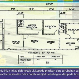 Teres Setingkat Floor Plan