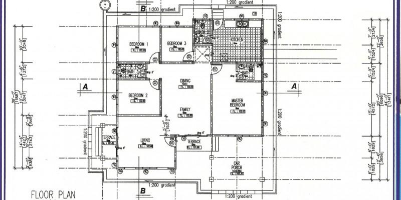Bungalow Dusun Nyior floor plan